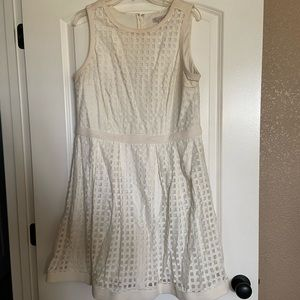 Ivory fit and flare dress